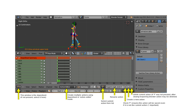 Blender multiple animations and Collada export - Game ...