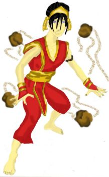 Toph Bei Fong fire outfit by paul626