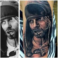 Kurt Cobain Tattoo by NickDAngeloTattoos