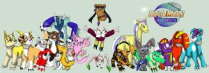 The Digimons of Digimon Elements by Bethessa