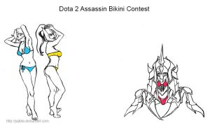 Dota 2 Assassin Bikini Contest by JujiBla