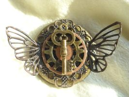 key butterfly broach by TimelessCharm