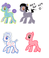 Pony adoptables 2 points -ONE LEFT- by Rainbow-Fluffy