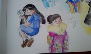 first try with watercolors by X3carlyX3