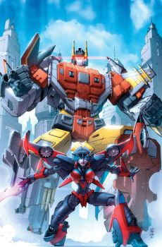 Transformers Combiner Wars #2 cover colors by khaamar