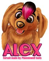 Alex Fursuit Badge by AlexDachshund