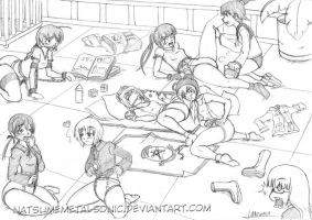 Strike Witches Diapers training. by Natsumemetalsonic