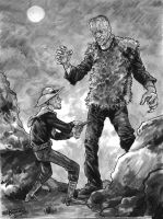 Jesse James versus Frankenstein's Monster by brentb9702