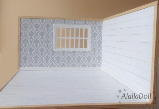 Handmade Diorama White Empty for 16 cm dolls by alaila1