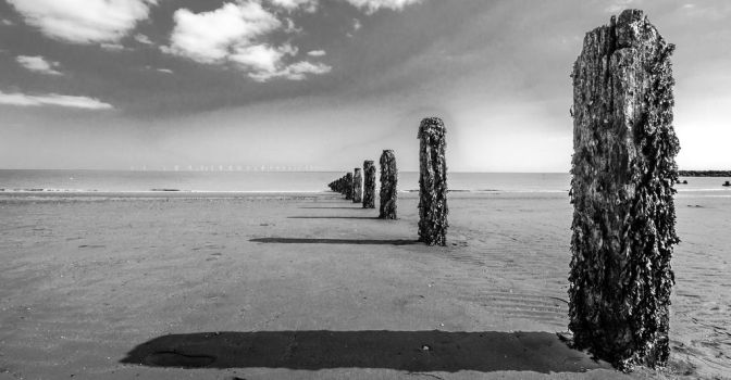 Poles on the beach by LojZza