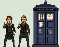 War Doctor/ 9th Doctor by Stuart1001