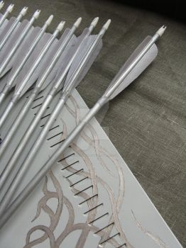 Training arrows for traditional bow, silver set by Aylie-Serinde