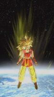 My DBZ OC: Soleil in space/SS3 by cardfightvanguard62