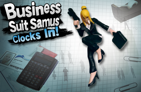 Business Suit Samus Clocks In! by Pavlovs-Walrus