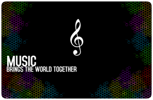 Music Brings the wrld tgther 2 by Quarion-Design