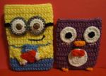 Minion and Penguin Cell Phone Sleeves by swallowtt