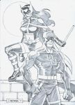 Daredevil and Huntress by wardogs101