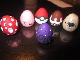 Polymer Clay Easter Eggs by Darklunax110