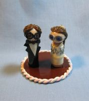 Brad and Vicki Cake Topper by kitcat4056