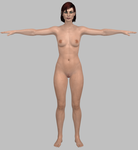 ME3 FemShep Nude Muscle Body by g1pno
