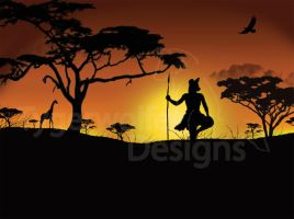 African Sunset by tygerwolfe