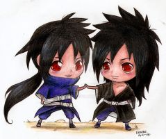 Madara and Izuna by Liedeke