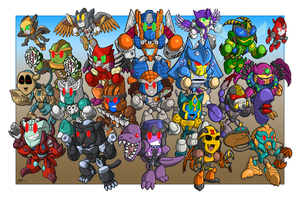 Beast Wars 20th Anniversary print by MattMoylan