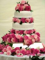 Roses Wedding Cake by Maellanie