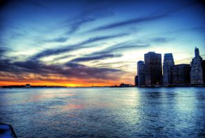 Sunset on the Hudson by MJKam11