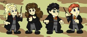 HP Chibis by cardinalbiggles