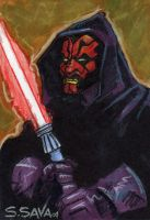Darth Maul Sketchcard by ssava