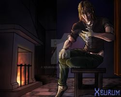 Anders and the Tevinter Amulet ( Dragon Age 2 ) by Xeurum