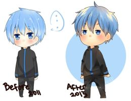 Kuroko no Basket (before after) by NoraShi-San
