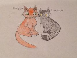 Warriors FIRE HEART and GRAY STRIPE by jok51