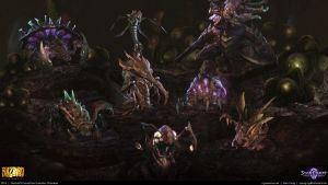 Starcraft II: Leviathan Evolution Chamber 2013 by cg-sammu