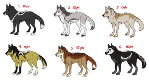 Natural Wolf Adoptables 10 by Fells-Adopts