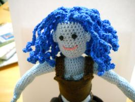 Curly hair doll close up by onlyRa