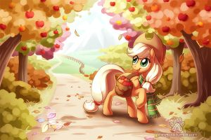 Autumn leaves - commission by ShinePawArt