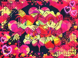 Tails and Cream Wallpaper 2 by LuniiCookiez