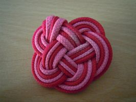 Pink brooch by Thyme-Sprite