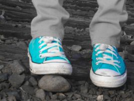 Blue Converse by TicklingTrees