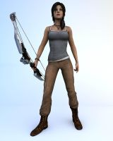 Katniss' pose by RumpleTR