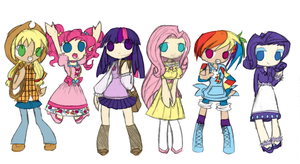 My Little Pony: FiM GIJINKA 8D by PiePiyo