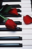 Piano with Roses by jessica123456789
