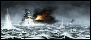 Bismarck battleship by highdarktemplar