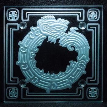 Carved Ouroboros Mayan etching by ImaginedGlass