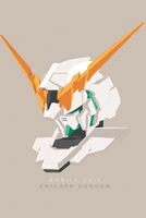 Gundam Unicorn by IZZARCHRON