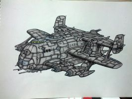 SL-12 Armoured Flying Assaultship by ThunderVB