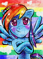 Rainbow Dash by FaithWalkers