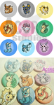 Eevee buttons by AceroTiburon